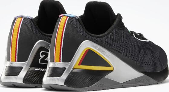 Reebok Power Rangers Nano X1 Mens Training Shoes back view quarter pair