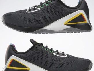 Reebok Power Rangers Nano X1 Mens Training Shoes upside down pair