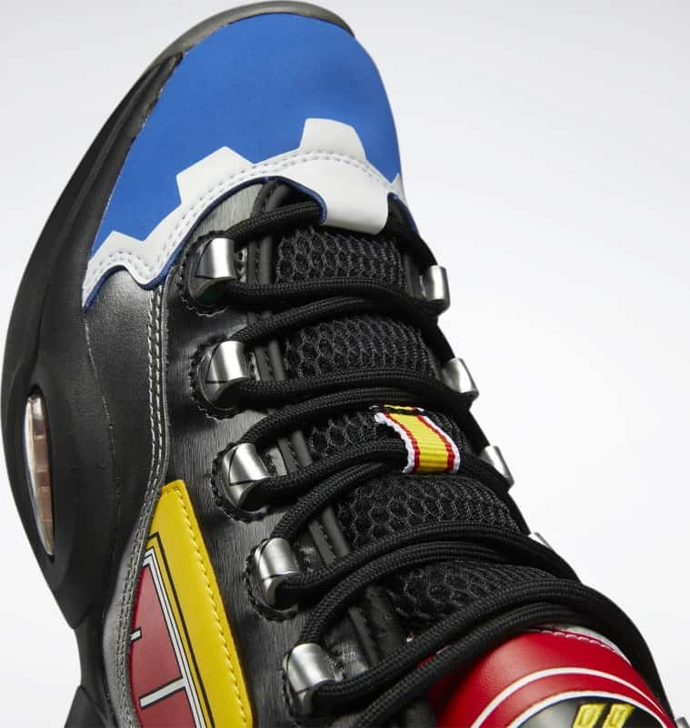 Reebok Power Rangers Question Mid Basketball Shoes close up