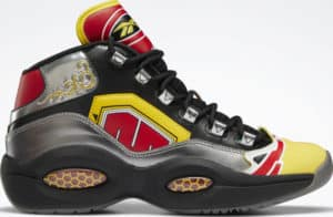 Reebok Power Rangers Question Mid Basketball Shoes side view right