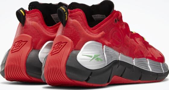 Reebok Power Rangers Zig Kinetica II Shoes back view quarter right