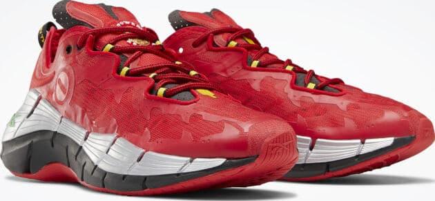Reebok Power Rangers Zig Kinetica II Shoes quarter view pair right