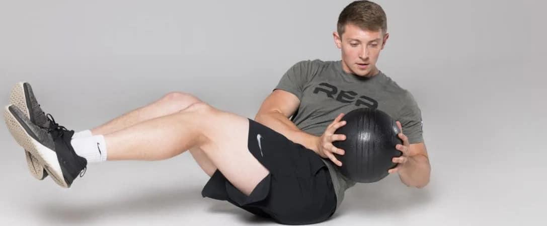 Rep Fitness V2 Slam Balls russian twist
