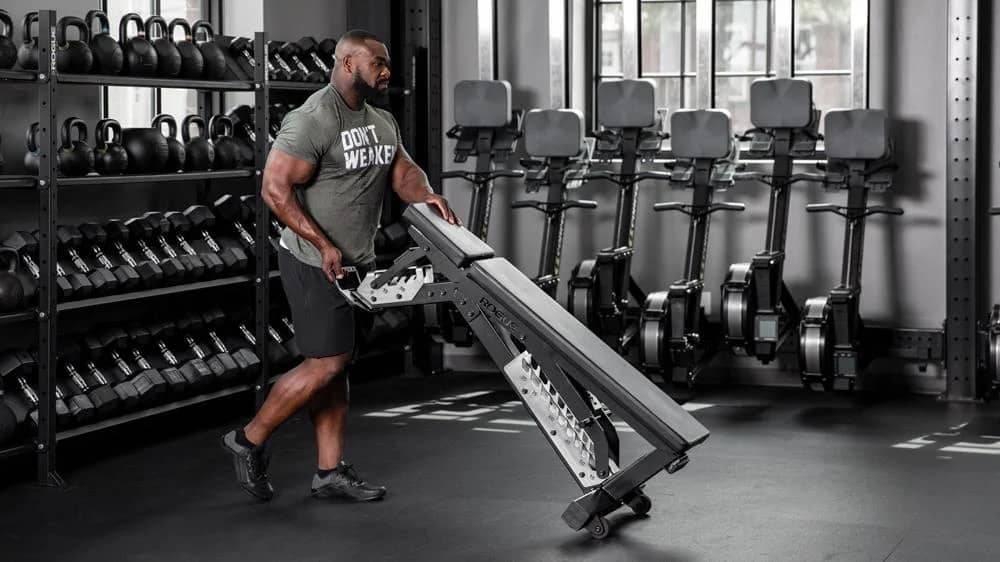 Rogue Adjustable Bench 3.0 with wheels