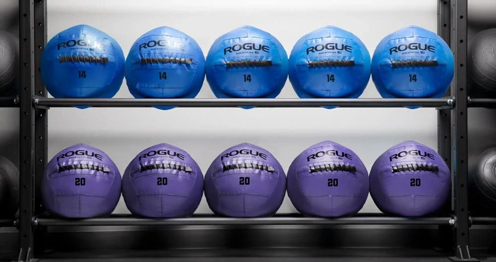 Rogue Fitness Color Medicine Balls blue violet