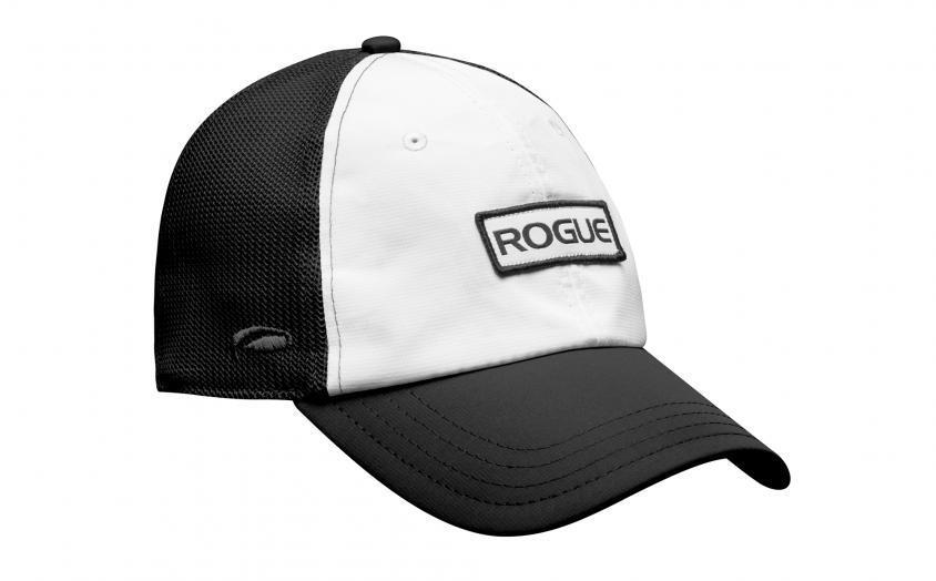 Rogue Ultra Fit Trucker Hat white black