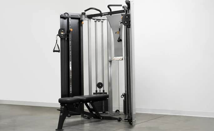 Torque Fitness F9 Fold-Away Functional Trainer full with bench