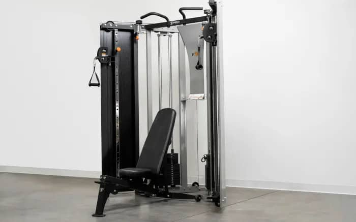 Torque Fitness F9 Fold-Away Functional Trainer open bench