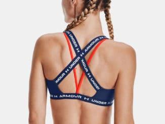 Under Armour Womens UA Crossback Low Sports Bra worn back