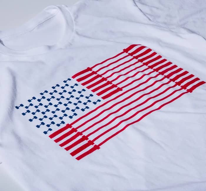 American Barbell Bar Spangled Banner - Tee details
