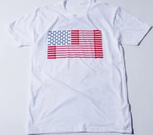 American Barbell Bar Spangled Banner - Tee full front