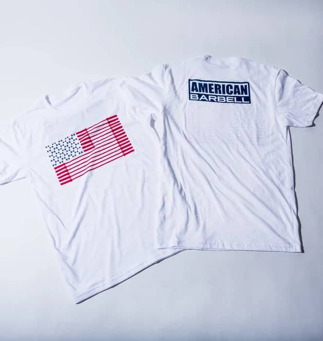 American Barbell Bar Spangled Banner - Tee red and blue