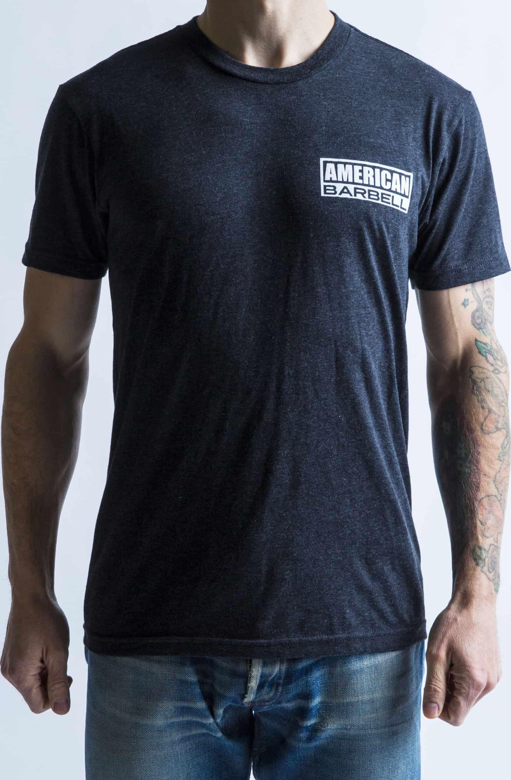 American Barbell Starter T-Shirt front worn