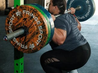 Fringe Sport Savage Bumper Plates with a lifter 2