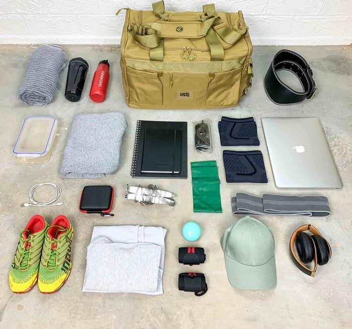 King Kong Apparel Core51 Duffel Desert packing