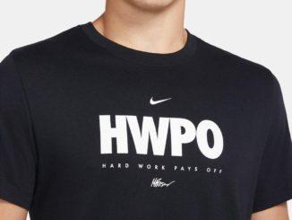 Nike Dri-FIT Mat Fraser HWPO Training T-Shirt Black White close up