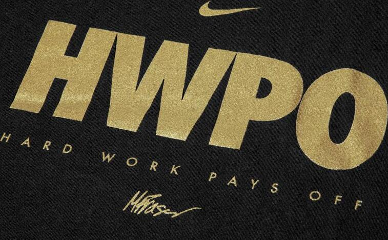 Nike Dri-FIT Mat Fraser HWPO Training T-Shirt Gold details