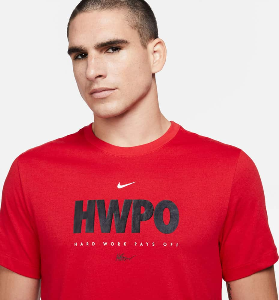 Nike Dri-FIT Mat Fraser HWPO Training T-Shirt Red close up