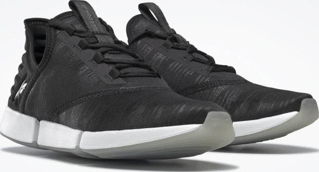 Reebok DailyFit DMX Womens Shoes Black  White  Black quarter view pair