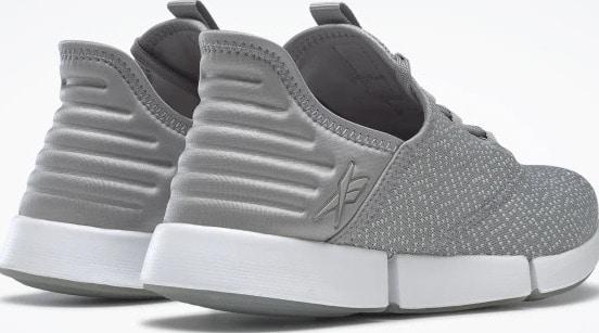 Reebok DailyFit DMX Womens Shoes Pure Grey 4  Pure Grey 2  White back view quarter