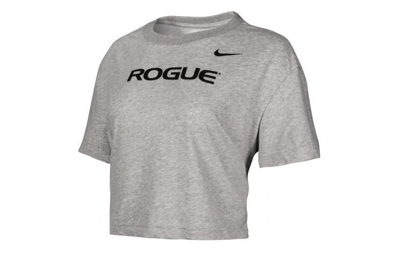 Rogue Nike Dri-Fit Crop Tee - Womens dark gray heather