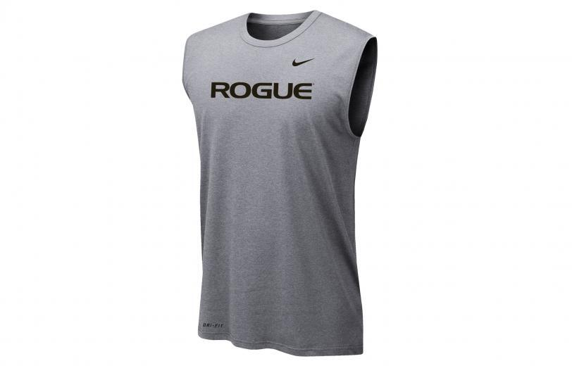 Rogue Nike Dri-Fit Legend 2.0 Sleeveless Tee - Mens dark heather gray full front