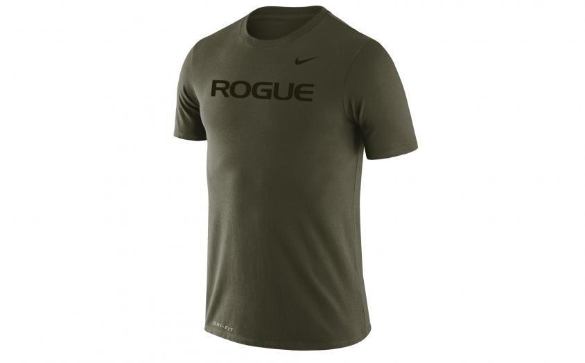 Rogue Nike Dri-Fit Legend 2.0 Tee - Mens medium olive full front