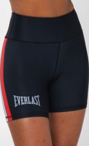 Everlast Womens Training Short with Swipe black front