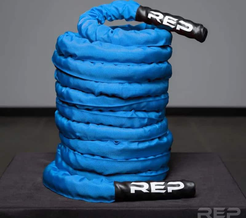 Rep Fitness REP V2 Sleeve Battle Rope blue