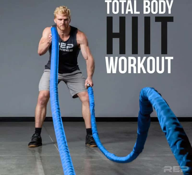 Rep Fitness REP V2 Sleeve Battle Rope total body workout