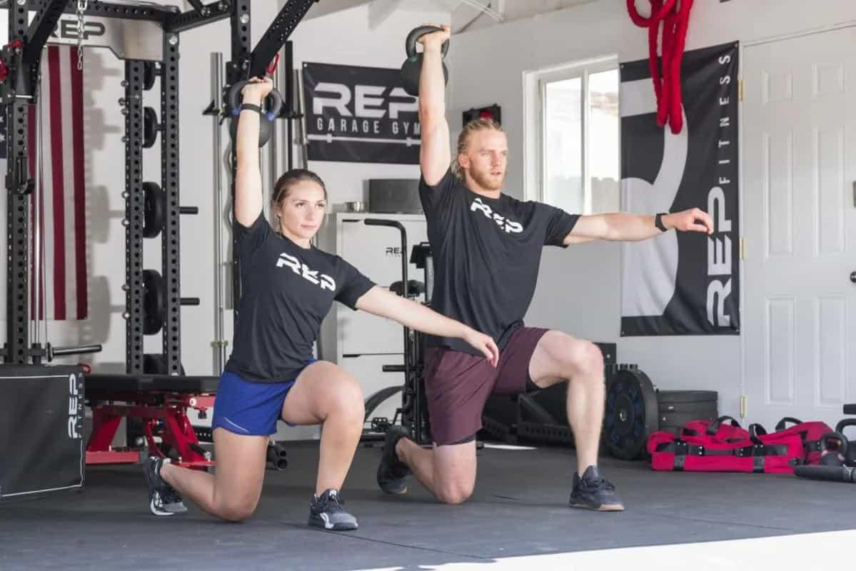 Rep Fitness Kettlebells lunge