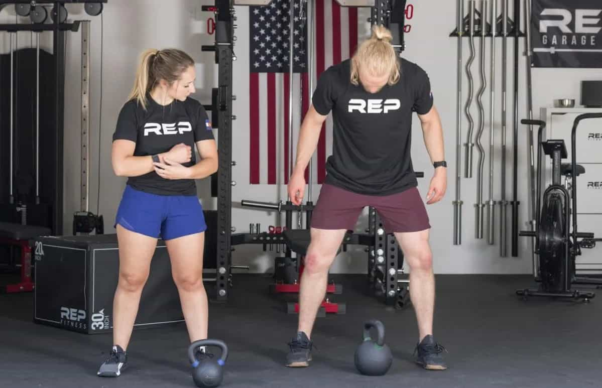 Rep Fitness Kettlebells training