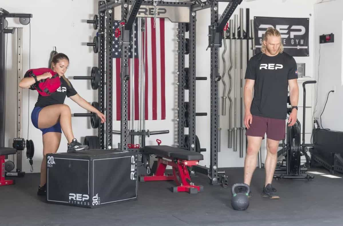 Rep Fitness Sand Bags box jump