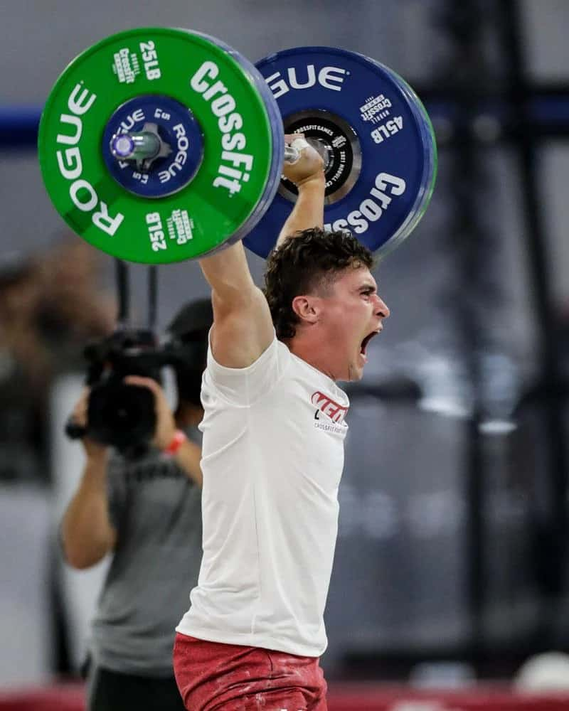 Rogue LB Competition Plates - 2021 Games with an athlete 1