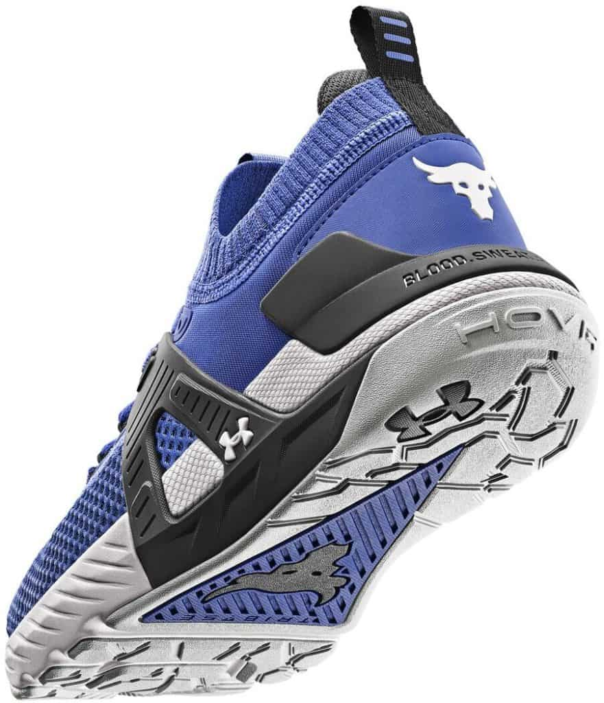 Under Armour Mens UA Project Rock 4 Training Shoes side and outsole
