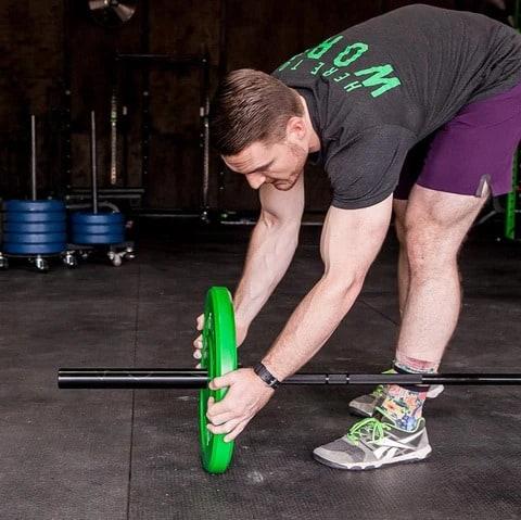 Fringe Sport 20kg Mens Wonder Bar Olympic Barbell loading