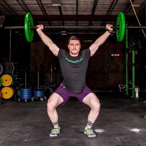 Fringe Sport 20kg Mens Wonder Bar Olympic Barbell overhead