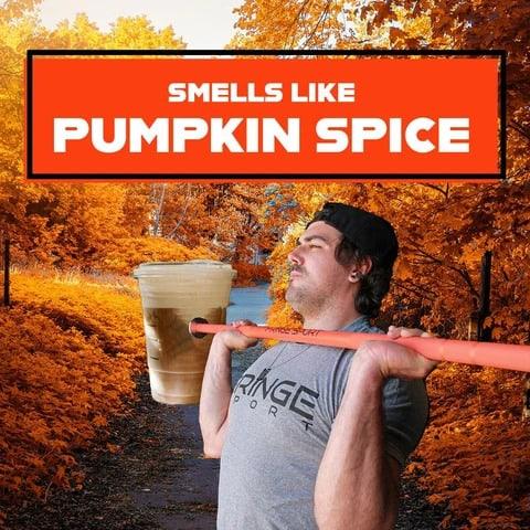 Fringe Sport 20kg Pumpkin Spice Barbell smells like pumpkin spice