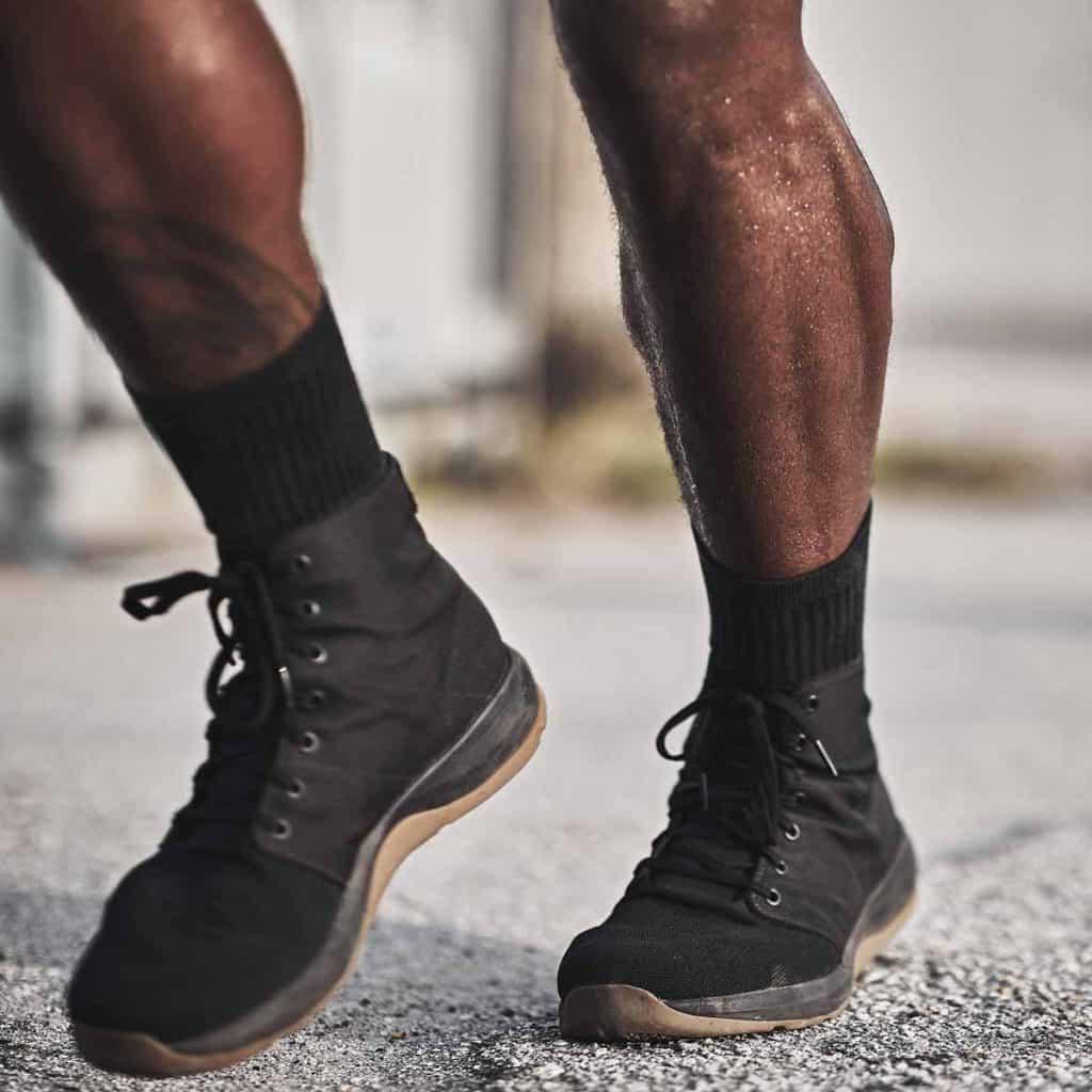 GORUCK Ballistic Trainers - Mid black gum worn
