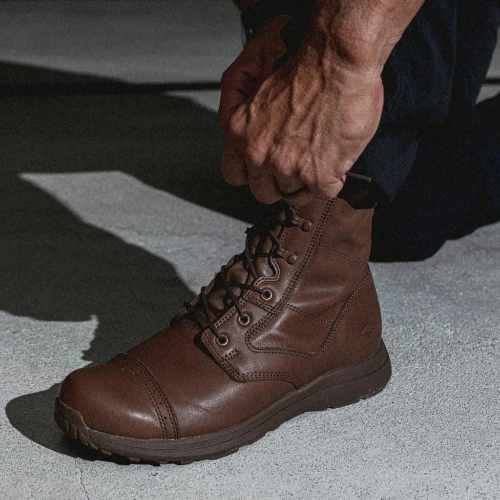 GORUCK Heritage Jump Boots worn lacing