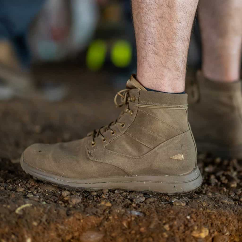 GORUCK Jedburgh Rucking Boots Deception Canvas coyote worn 2