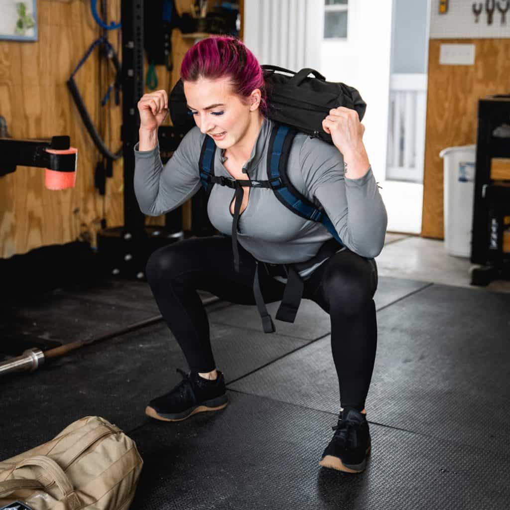 GORUCK Womens Indestructible Tough Leggings - Pockets full squat