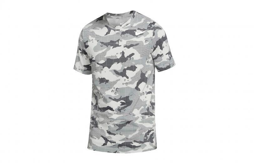 Nike Mens Dri-FIT Camo Training T-Shirt front