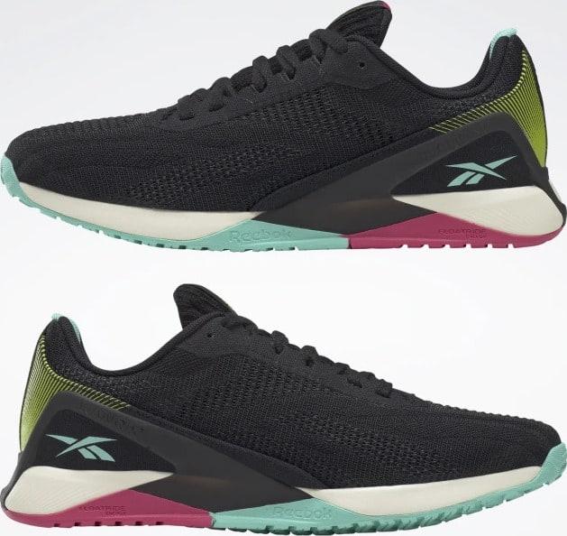 Reebok Nano X1 Vegan Womens Training Shoes upside down pair