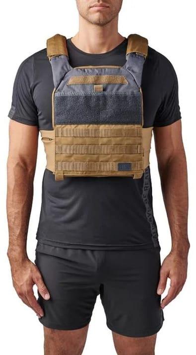 Rogue 5.11 TacTec Trainer Weight Vest tungsten front