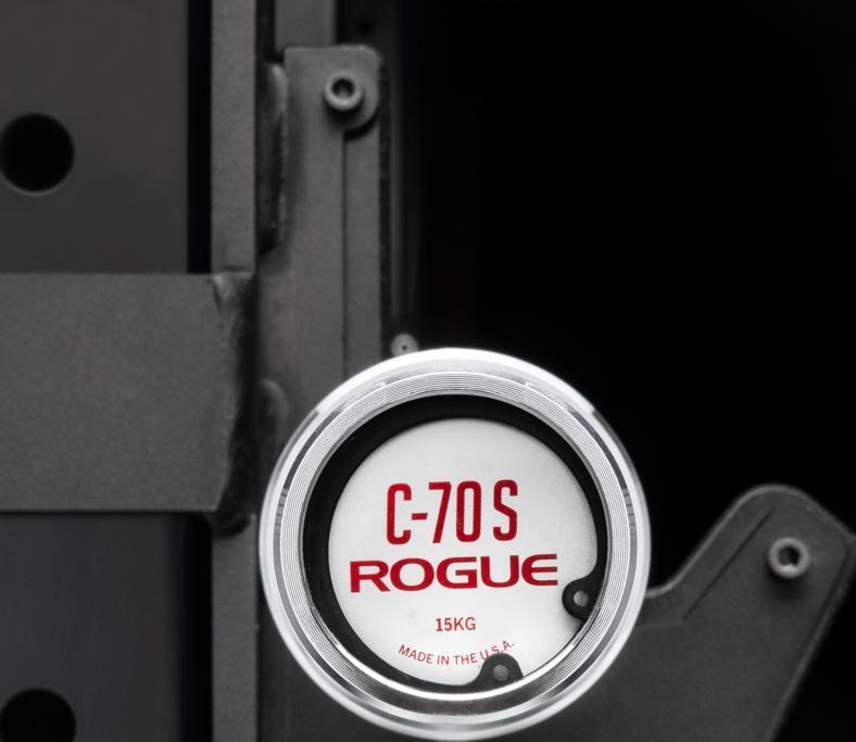 Rogue C-70S Bar - Men's Rackable Short Bar end caps