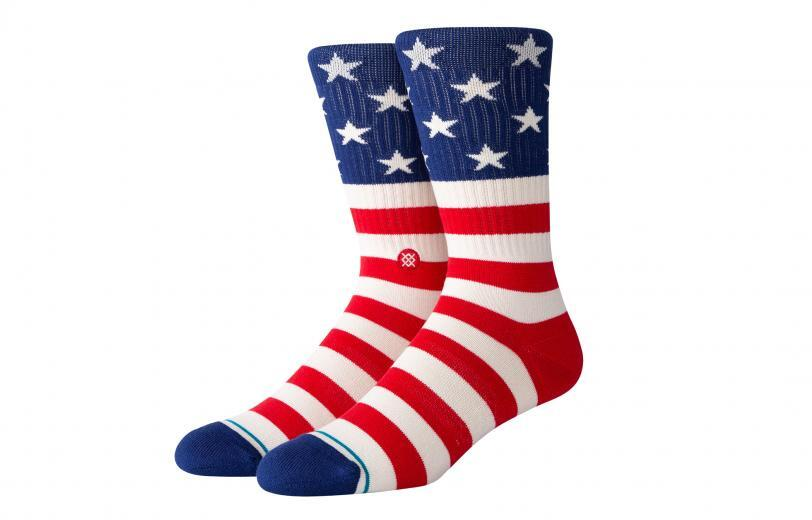 Rogue Stance Socks - The Fourth Crew red white blue