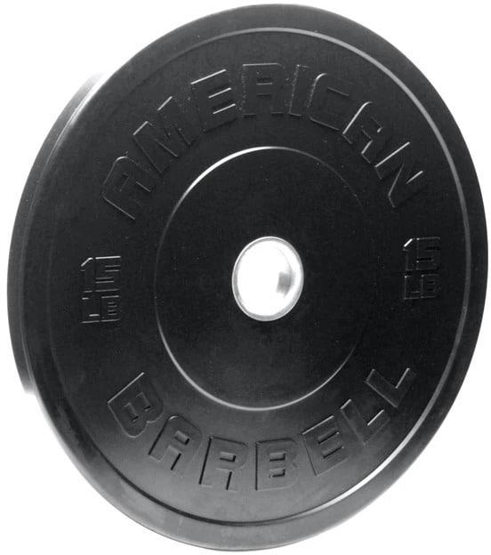 American Barbell Black LB Sport Bumper Plates 15 lb