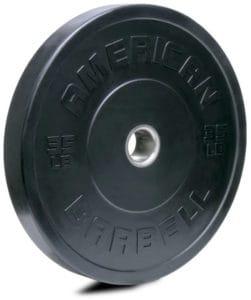 American Barbell Black LB Sport Bumper Plates 35 lb
