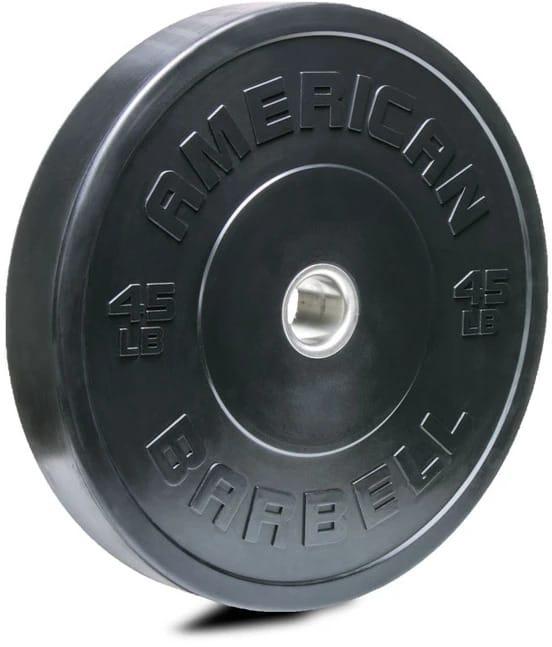 American Barbell Black LB Sport Bumper Plates 45 lb